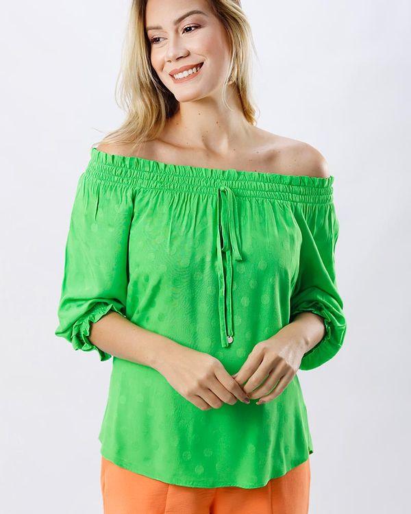 Blusa-Tecido-Textura-Poas-Ombro-a-Ombro-Verde-Luz