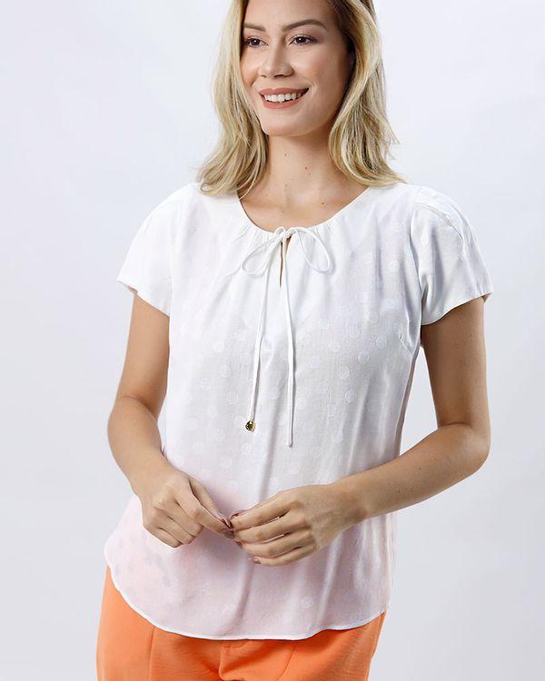 Blusa-Tecido-Poas-Texturizado-Decote-Franzido-Off-White